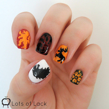 Game of Thrones nail art by LotsOfLack
