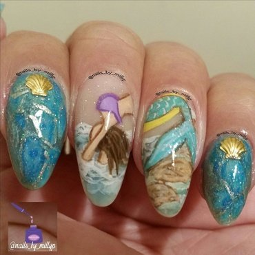 Mermaids are real 2 nail art by Milly Palma