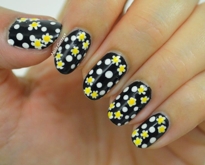 The Color Black nail art by NailsContext