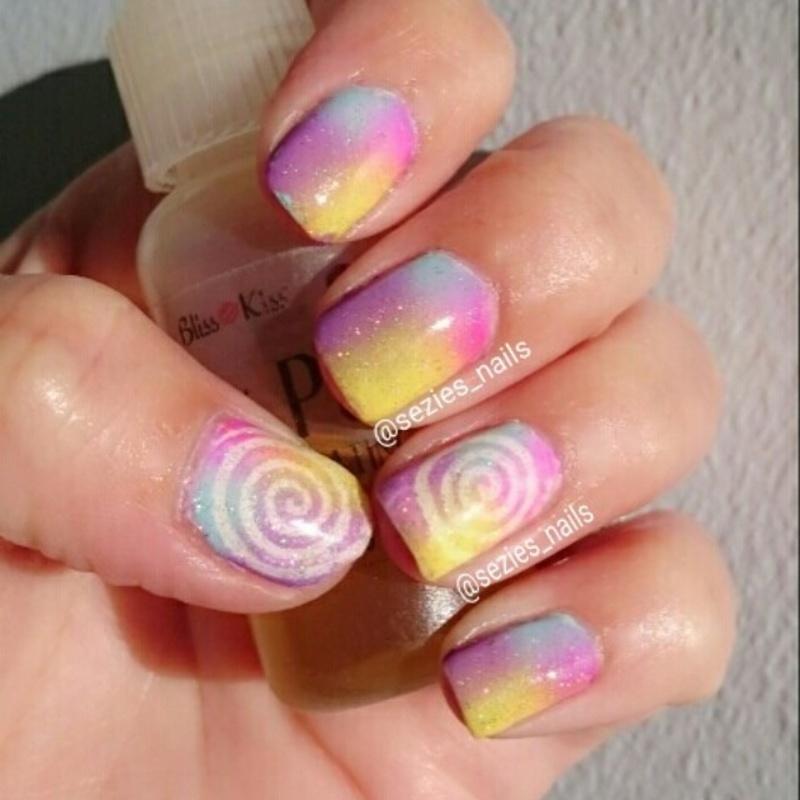 cyclone nails nail art by Sarah Bellwood