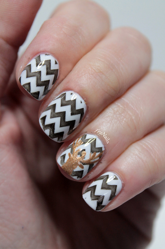 Deer Nails Nail Art By Fran Nails Nailpolis Museum Of Nail Art
