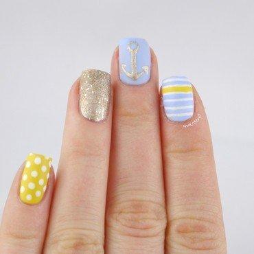 Soft Nautical Nails nail art by Ann-Kristin