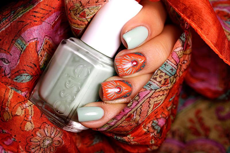 Colonial  nail art by Yulia