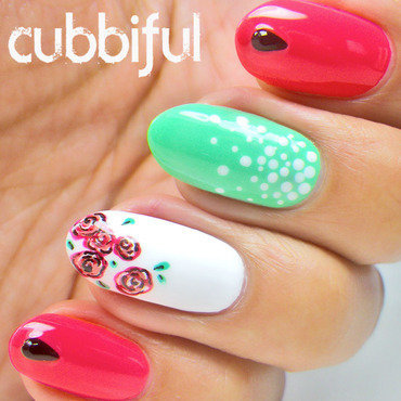 Spring skittlete nails thumb370f