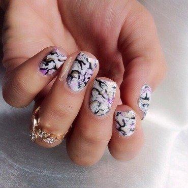Stone nails nail art by Massiel Pena