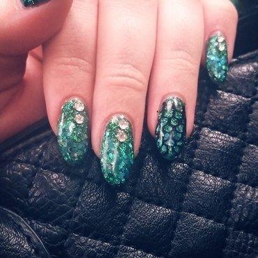 Sparkley Mermaid nail art by Ashley
