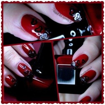 Louboutin lover nail art by Elodie Mayer
