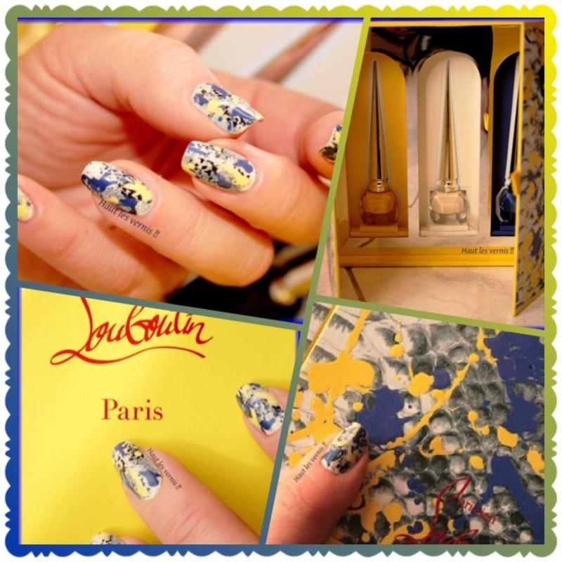 Louboutin spring nail art by Elodie Mayer