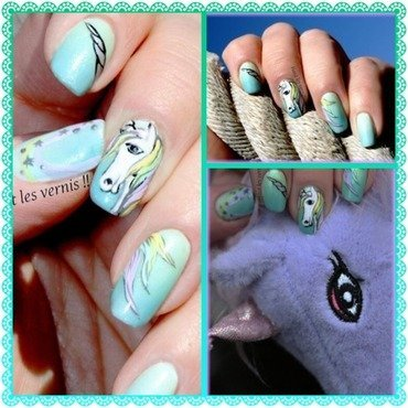 Unicorn nail art by Elodie Mayer