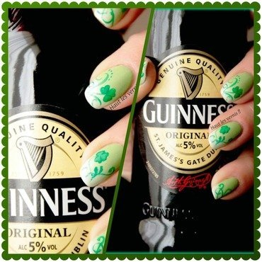 Saint patrick nail art by Elodie Mayer
