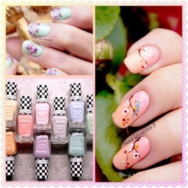 Spring nail art by Elodie Mayer