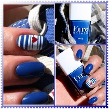 Sailor nail art by Elodie Mayer
