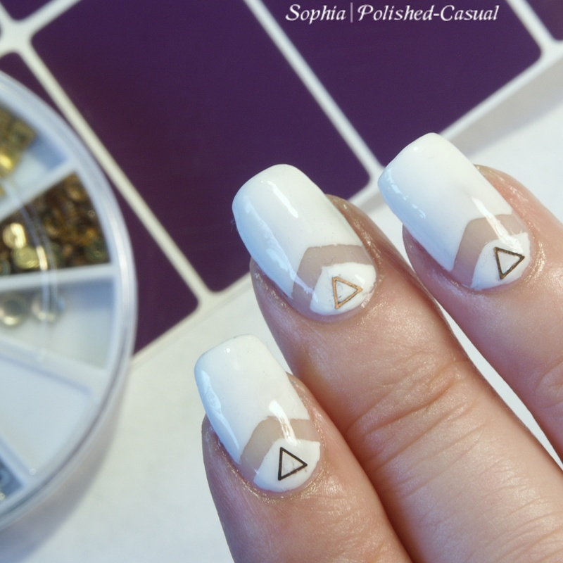 White Chic nail art by Sophia