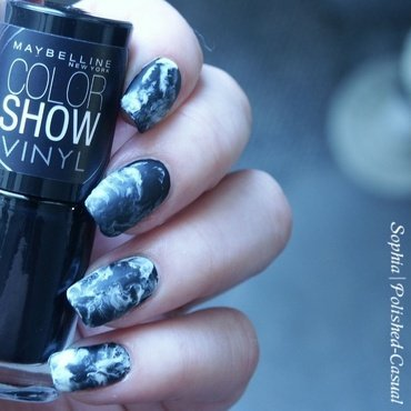 Smoky Marble nail art by Sophia