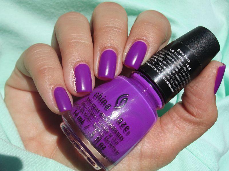 China Glaze Violet-Vibes Swatch by Marina