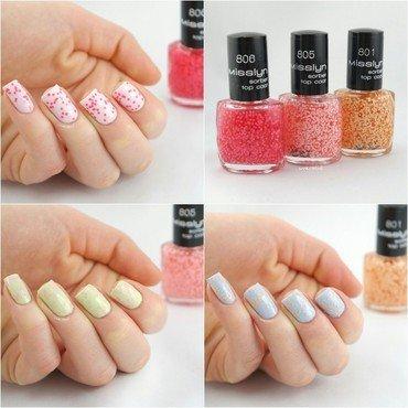 Misslyn Sorbet Topcoats nail art by Ann-Kristin