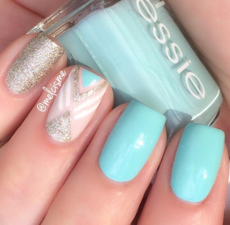 Tape Mani nail art by Melissa