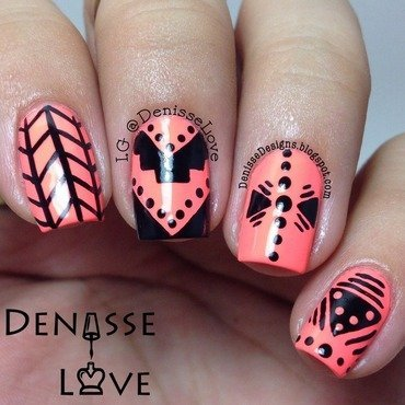Push the Limit nail art by Denisse Love