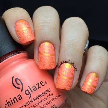 Summer Bright nail art by Carmen Ineedamani