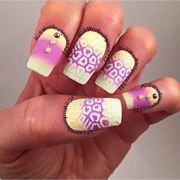 Leopard print nail art by Workoutqueen123