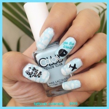 Travel the world nail art nail art by Puja Malhotra