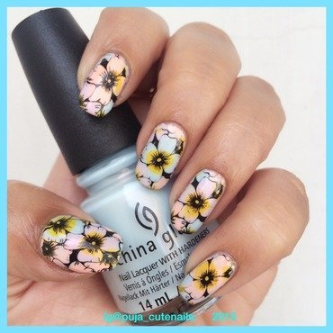 Spring flowers  nail art by Puja Malhotra
