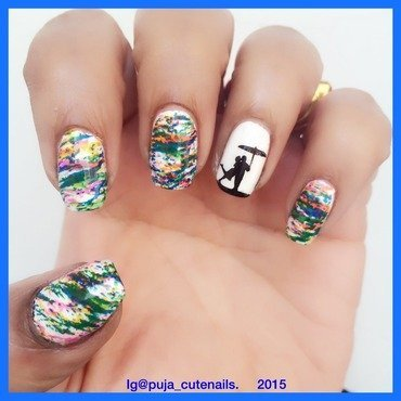 April shower  nail art by Puja Malhotra