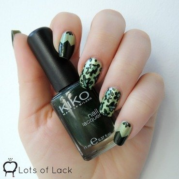 Green Leaves nail art by LotsOfLack