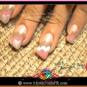 Neopolitan Rain Clouds :::... ★ Jennifer Perez nail art by Jennifer Perez ♥ Mystic Nails