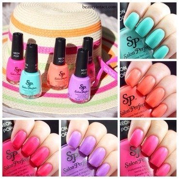 Salon Perfect Neon POP!  nail art by Beauty Intact