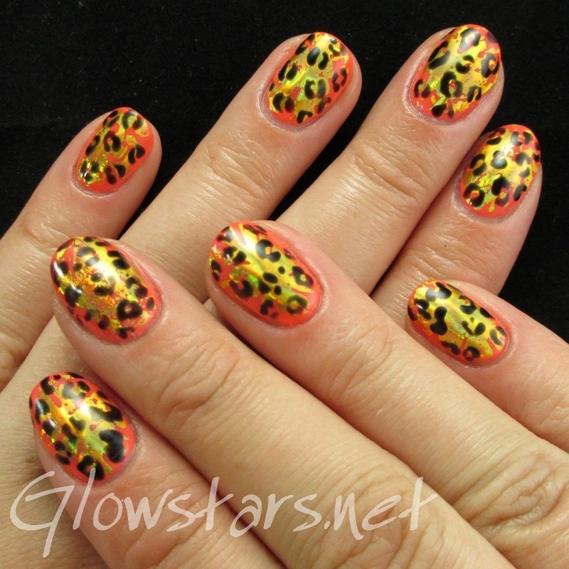 Leopard and Foils with Gelish Rockin' The Reef nail art by Vic 'Glowstars' Pires