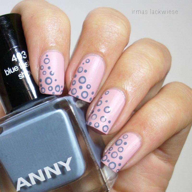 sweet polka dots nail art by irma