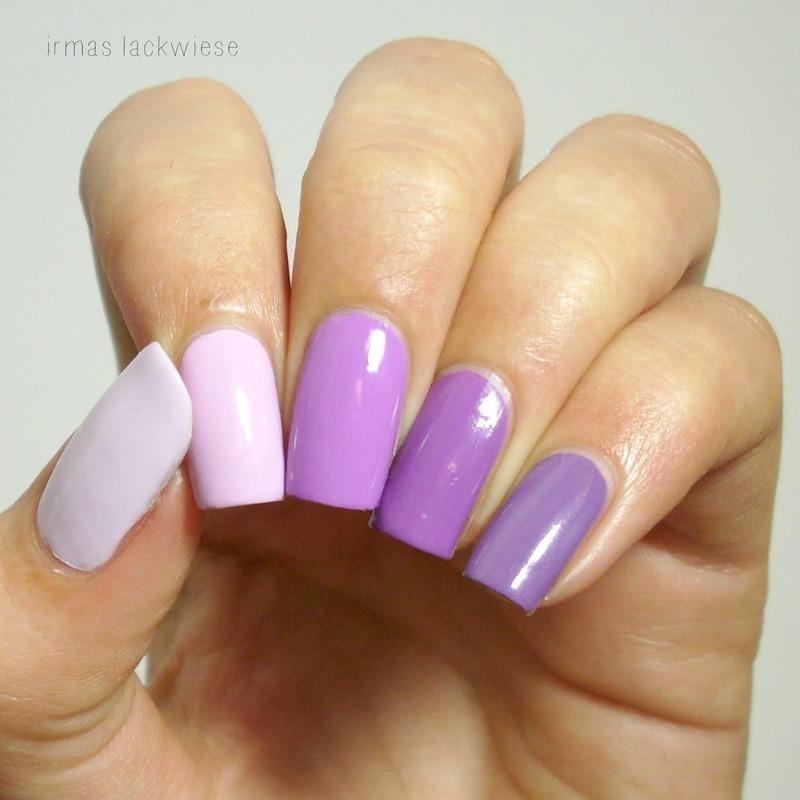 purple ombré nail art by irma