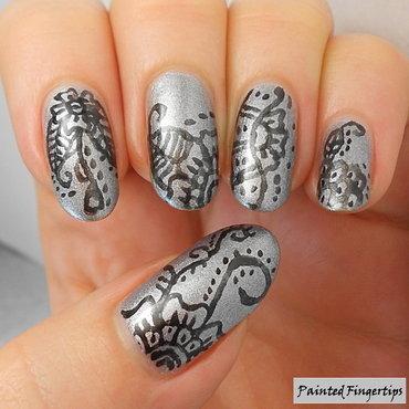 Eyeliner freehand nail art thumb370f