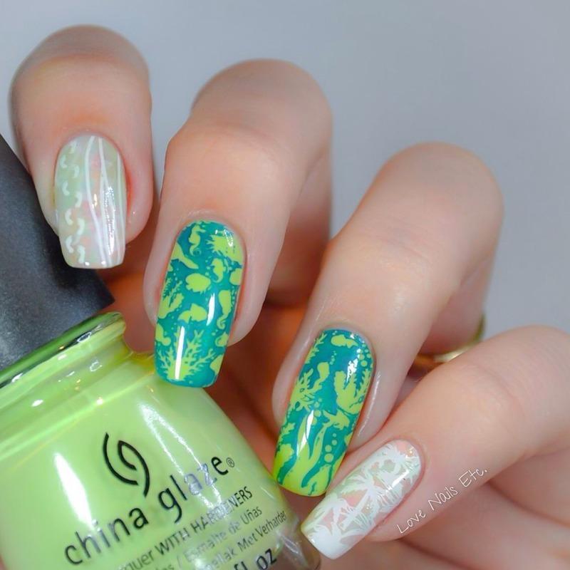 Summer + Beach nail art by Love Nails Etc