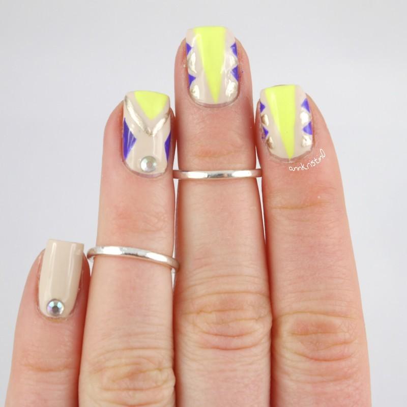 Orly Neon Triangles nail art by Ann-Kristin