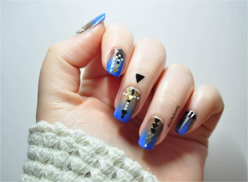 Geo-chic nail art by GlitterMySocksOff