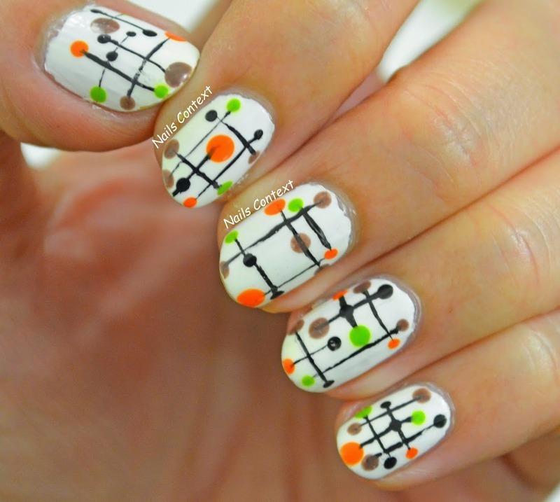 Modern Muses nail art by NailsContext