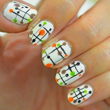 Modern Muses nail art by NailsContext