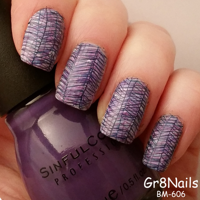 stamping nail art by Gr8Nails