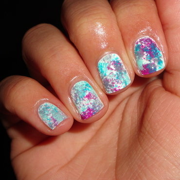 Bright sponge nail art nail art by Jessica