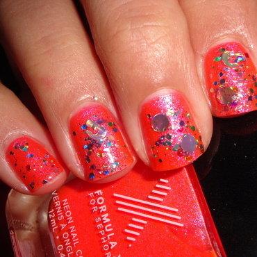 Leopard glitter nail art by Jessica