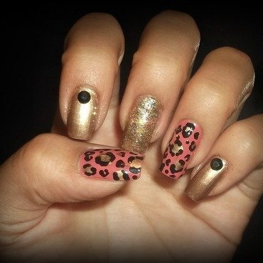 Cheetah nails nail art by Jacquelin