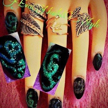 brocade nail art by Ewa EvaNails