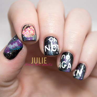 #tpbApril | The Hitchhiker's Guide to The Galaxy nail art by Julie