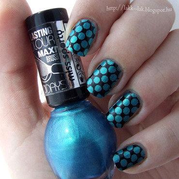 Blue nail art by Barbara P.