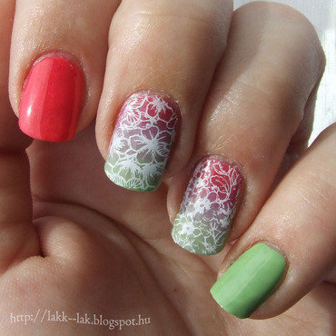 Colorful spring nail art by Barbara P.
