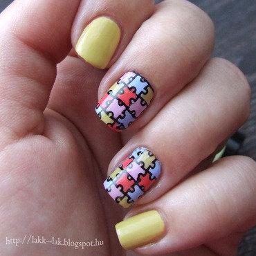 Puzzles nail art by Barbara P.
