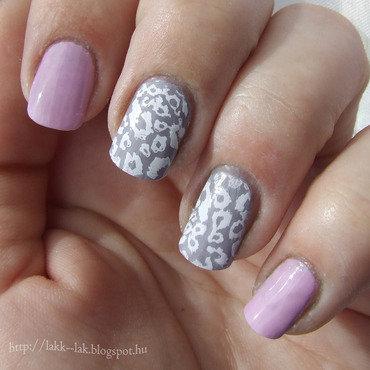 Lilac nail art by Barbara P.