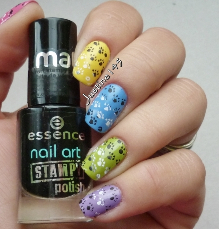 skittle stamping nail art by Justine145